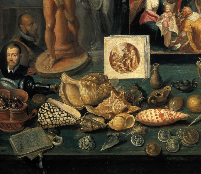 Francken, Kunstkammer detail, 1636