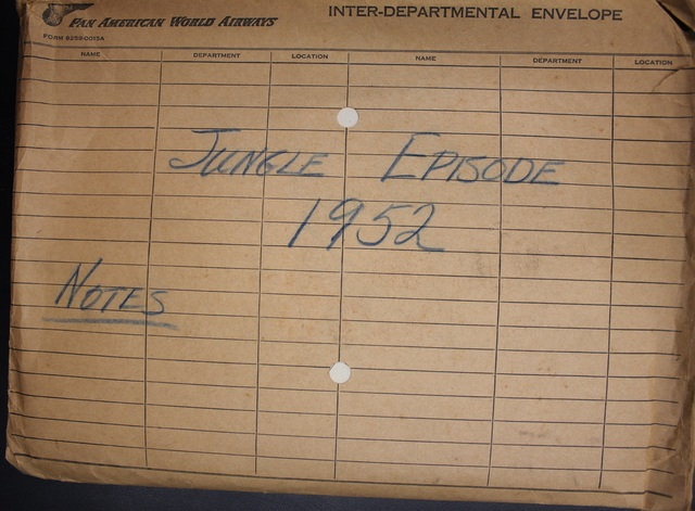 Photo of the envelope in the archive