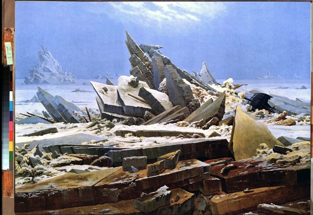 Caspar David Friedrich, The Sea of Ice, oil on canvas, 1823-4.