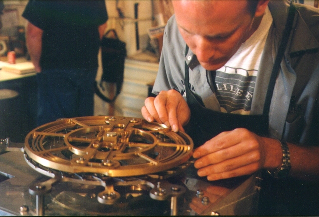 alexander rose working on the clock