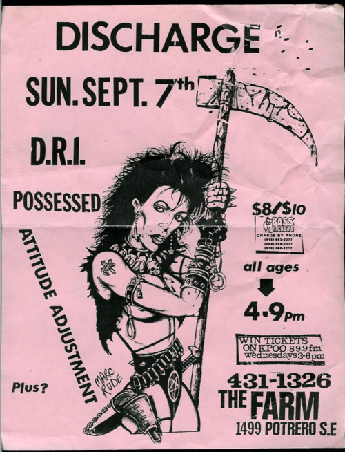 discharge poster