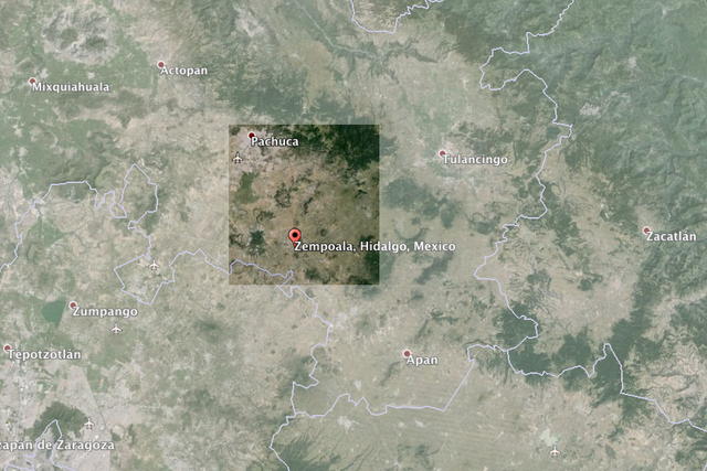 Cempoala Region on Google Earth