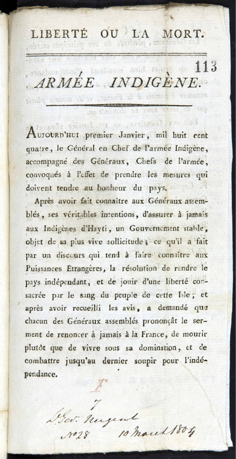 Haiti's Declaration of Independence: Digging for Lost