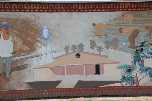 Portion of Linnell camp mural