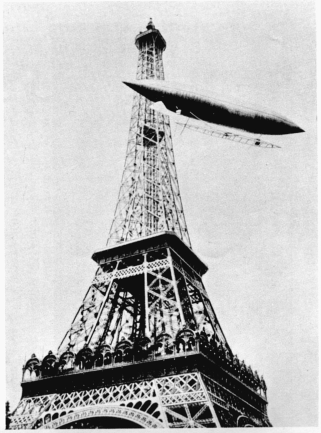 Santos-Dumont and the Eiffel Tower