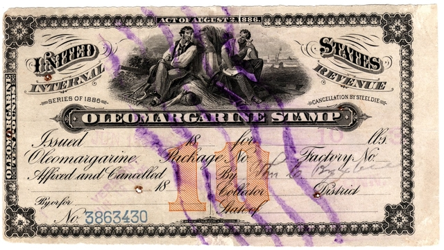 Margarine Tax Stamp