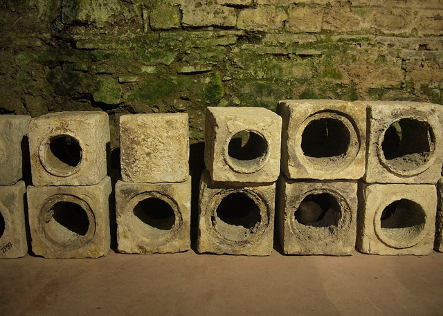 Roman sewer pipes