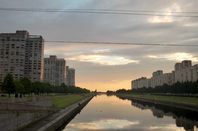 Sunrise Over the Smolenka Canal